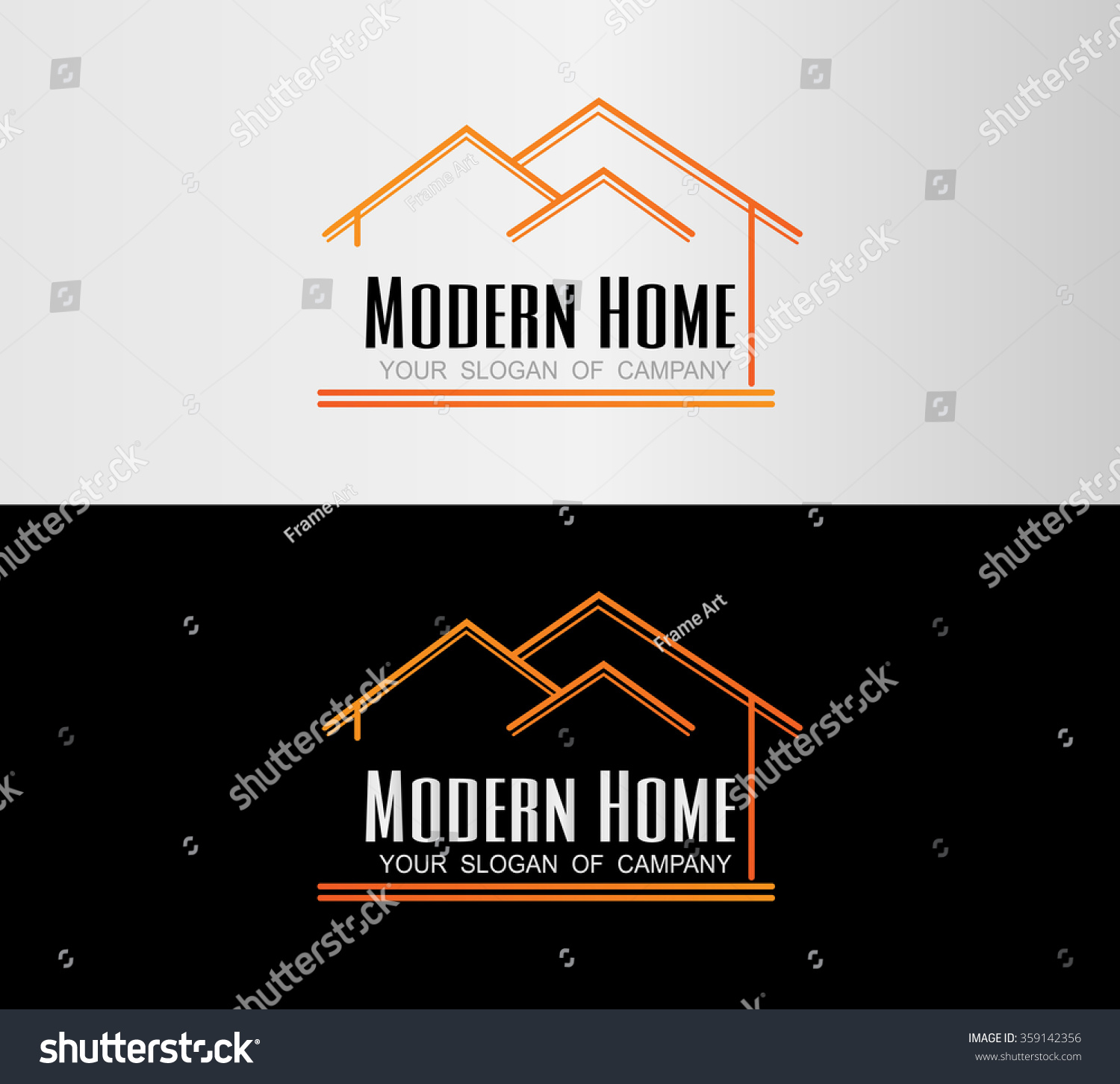 Modern home real estate logohouse stock vector 359142356 for Modern house logo