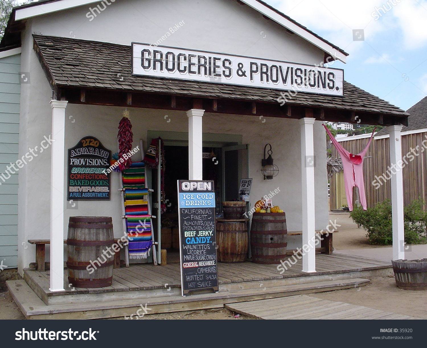 Old Time Grocery Provision Store Front Stock Photo Edit Now 35920