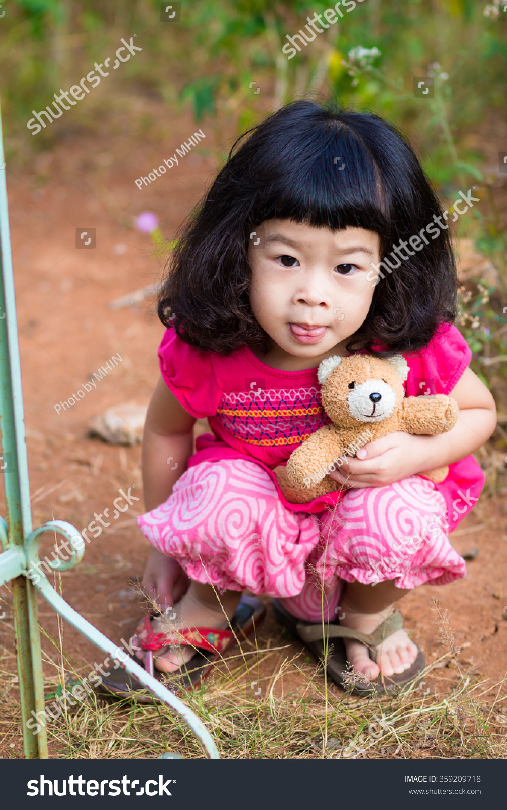 asian baby cute girl curly hair stock photo (download now) 359209718