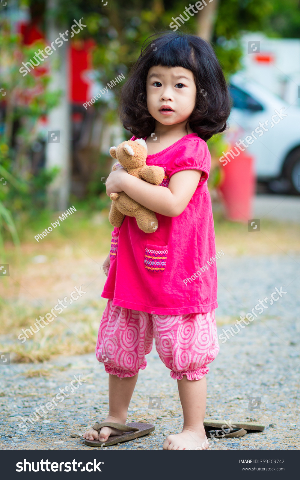 asian baby cute girl curly hair stock photo (download now) 359209742