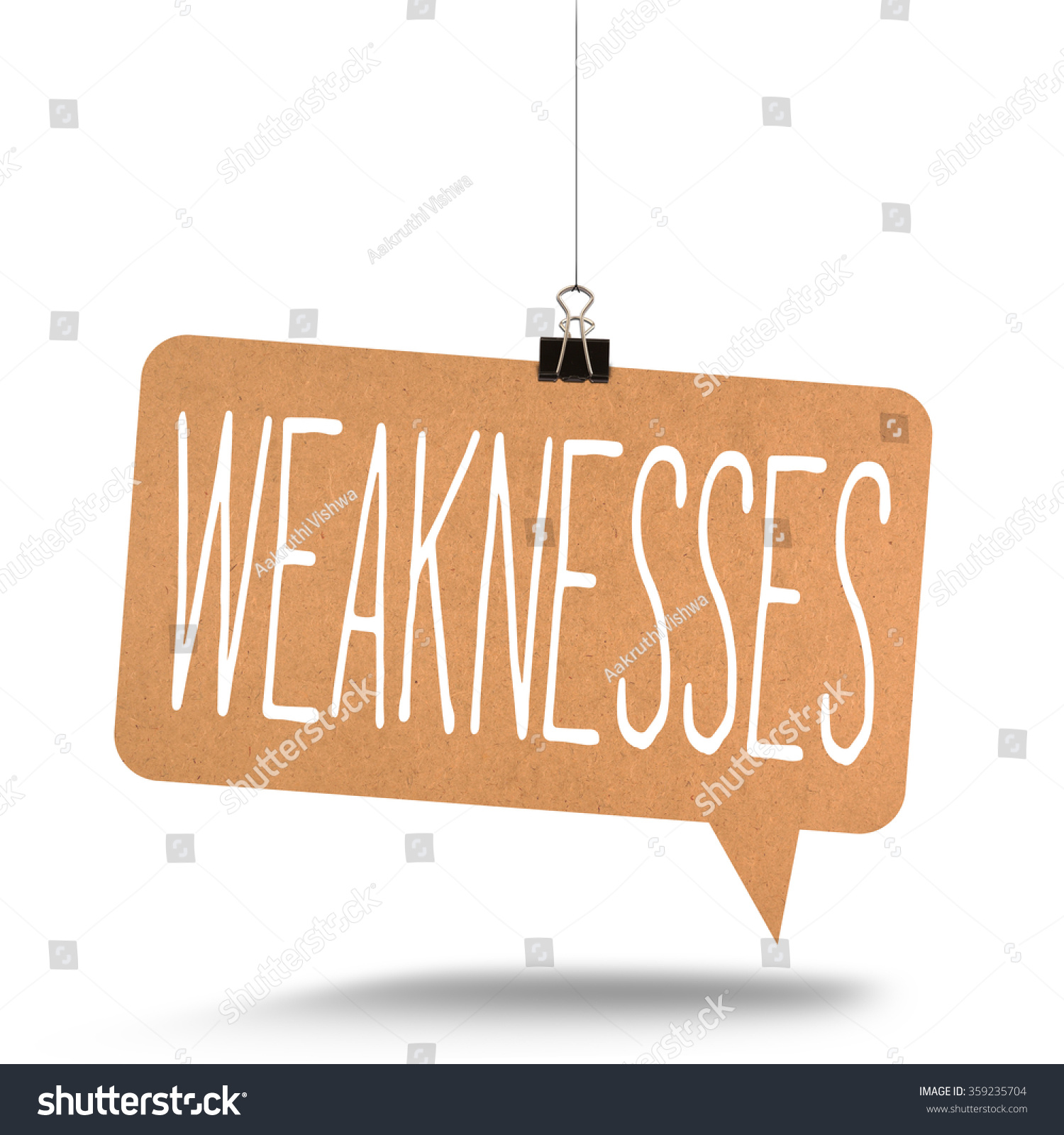 weaknesses word on cardboard stock photo shutterstock weaknesses word on cardboard