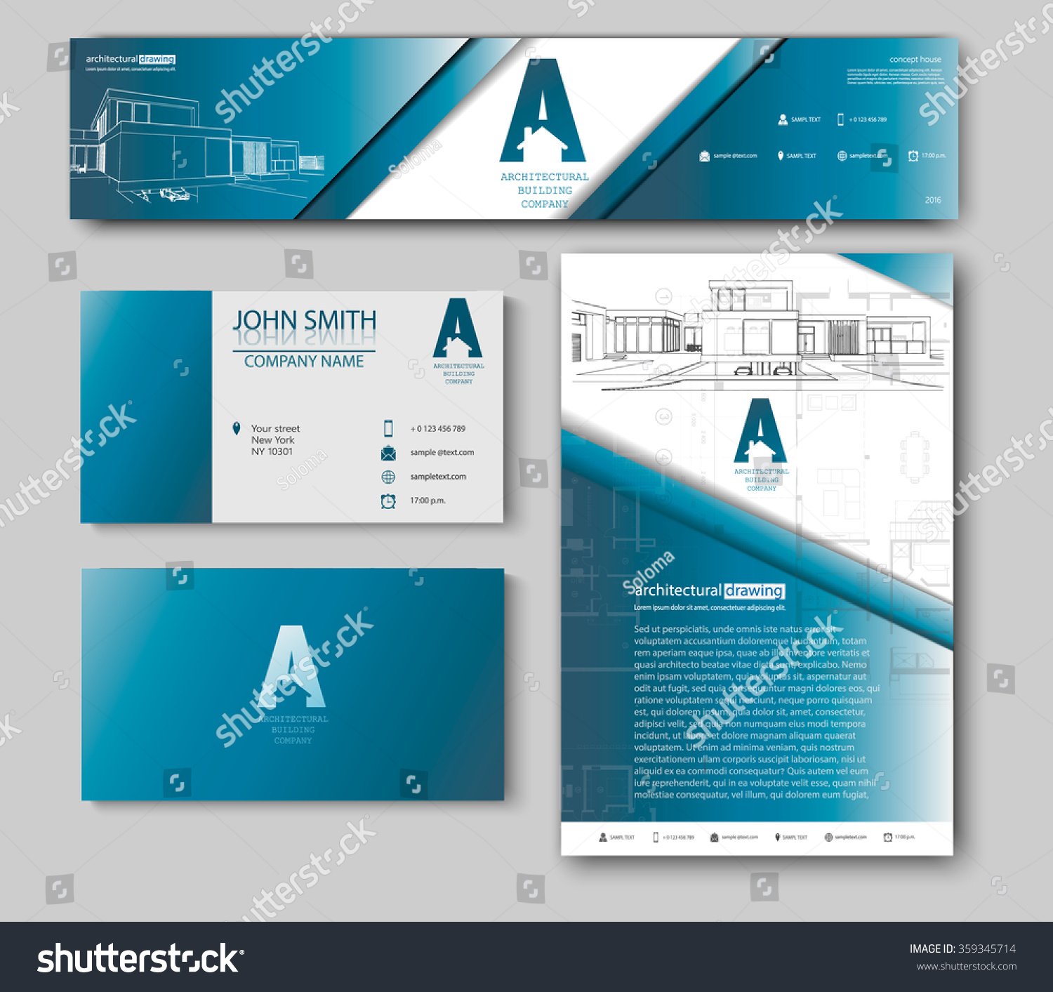 Business cards design blueprint sketch architectural vectores en business cards design with blueprint sketch for architectural company architectural background for architectural project malvernweather Gallery