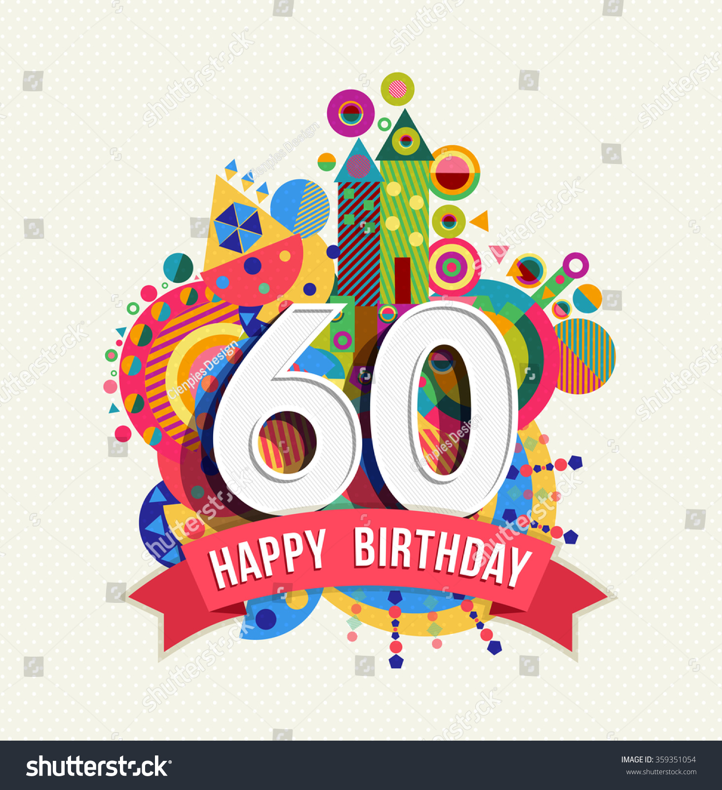Happy Birthday Sixty 60 Year Fun Stock Vector Shutterstock
