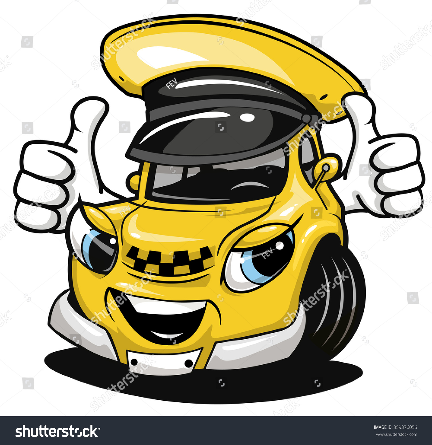 Set of car taxi service, side view. yellow vehicle ... |Yellow Taxi Cab Drawing