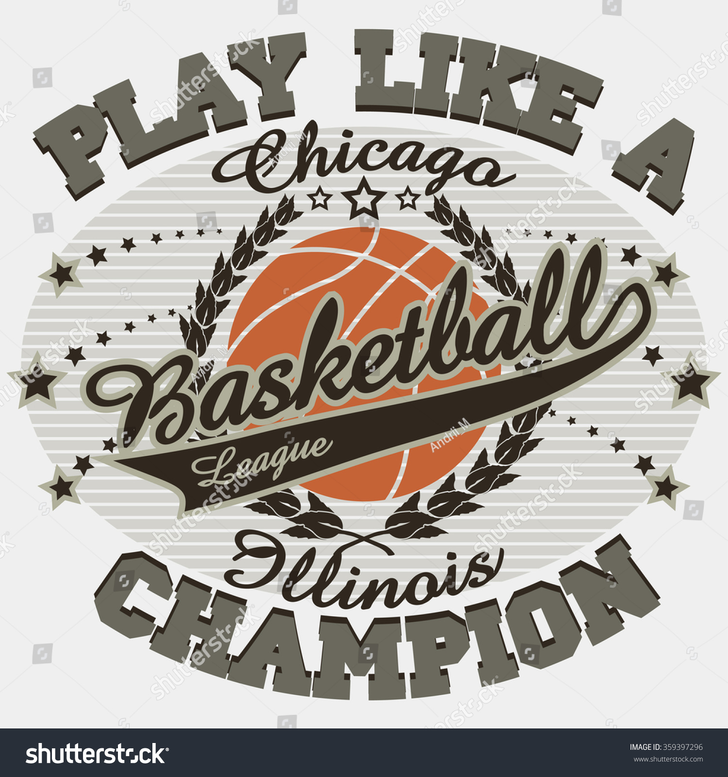 7b32bd93 Basketball Sport Fashion Typography Graphics. Chicago T-shirt Design.  Basket ball T-