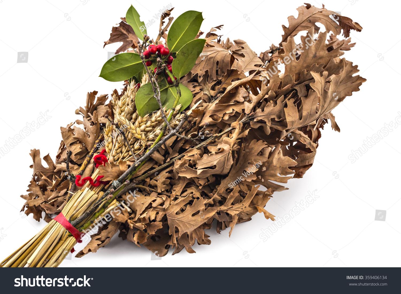 stock-photo-badnjak-yule-log-mistletoe-fir-branches-wheat-serbian-christmas-359406134.jpg