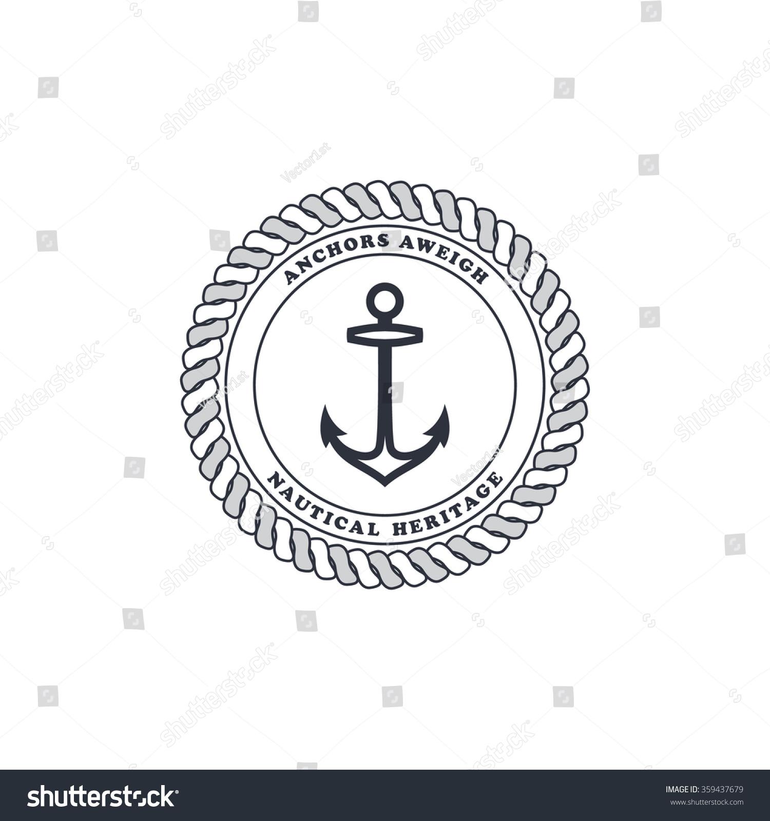 Anchor Sailor Nautical Symbol Theme Stock Vector Royalty Free