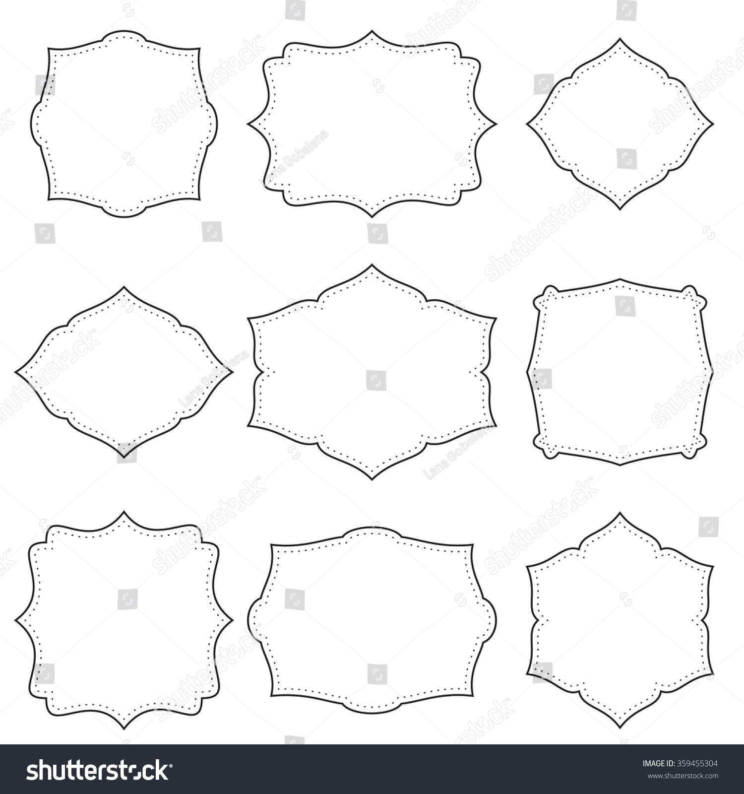 Set Simple Frames Dots Stock Photo (Photo, Vector, Illustration ...