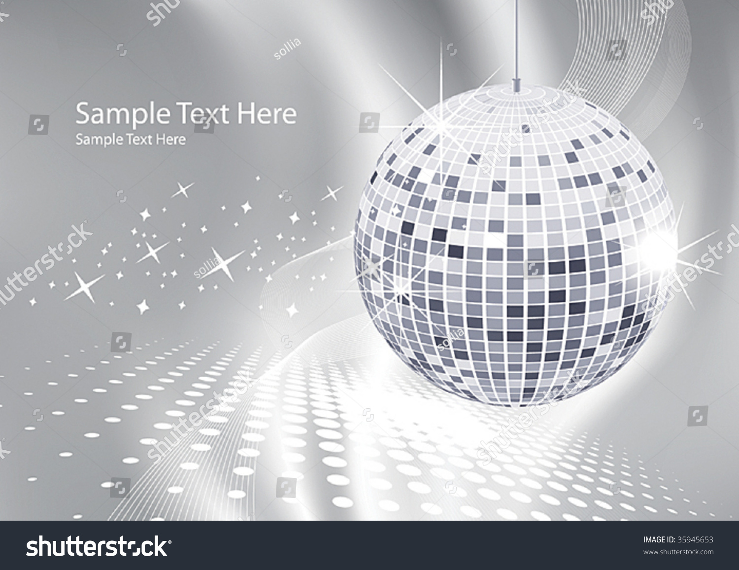 abstract background silver disco ball stock vector