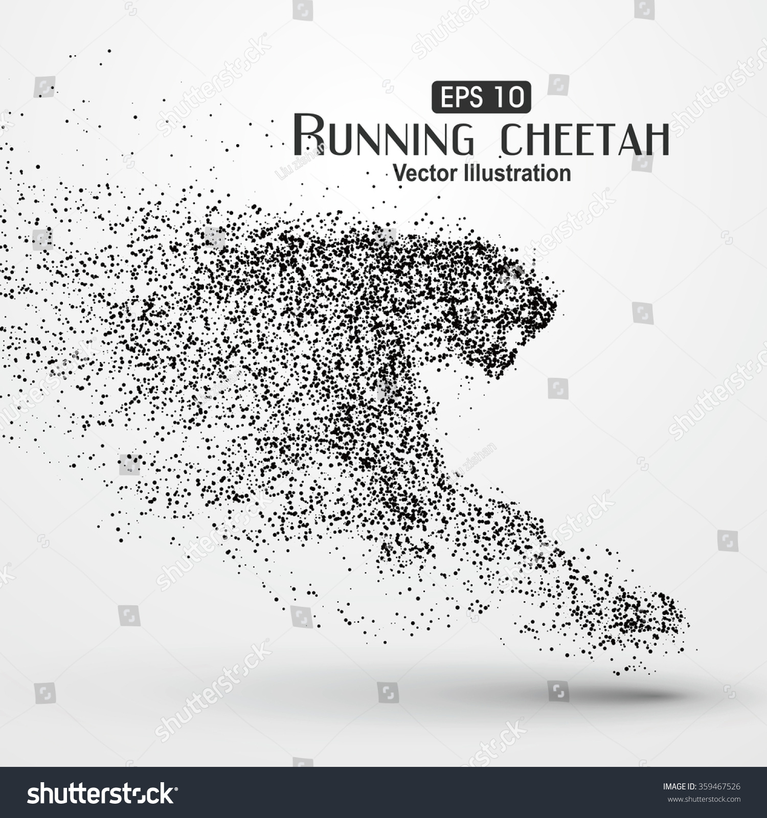 Chester Cheetah Illustrations On Behance: Particle Cheetah Vector Illustration Stock Vector