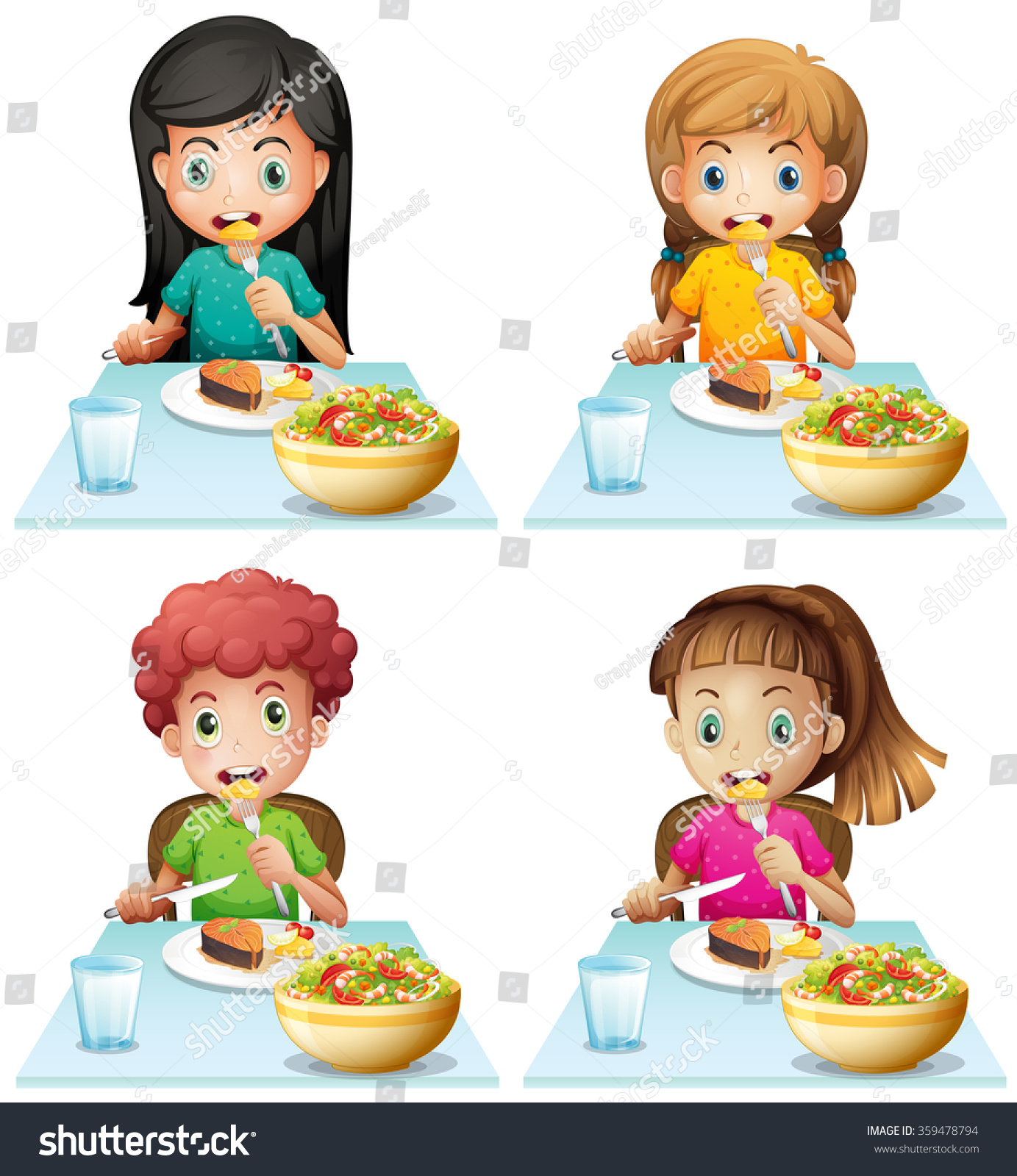 clipart girl eating breakfast - photo #43