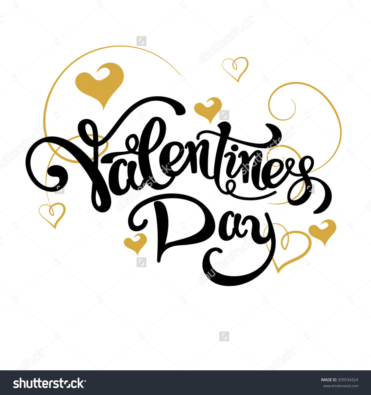 Valentines day Text Letter Hand drawing Font Card template Vector