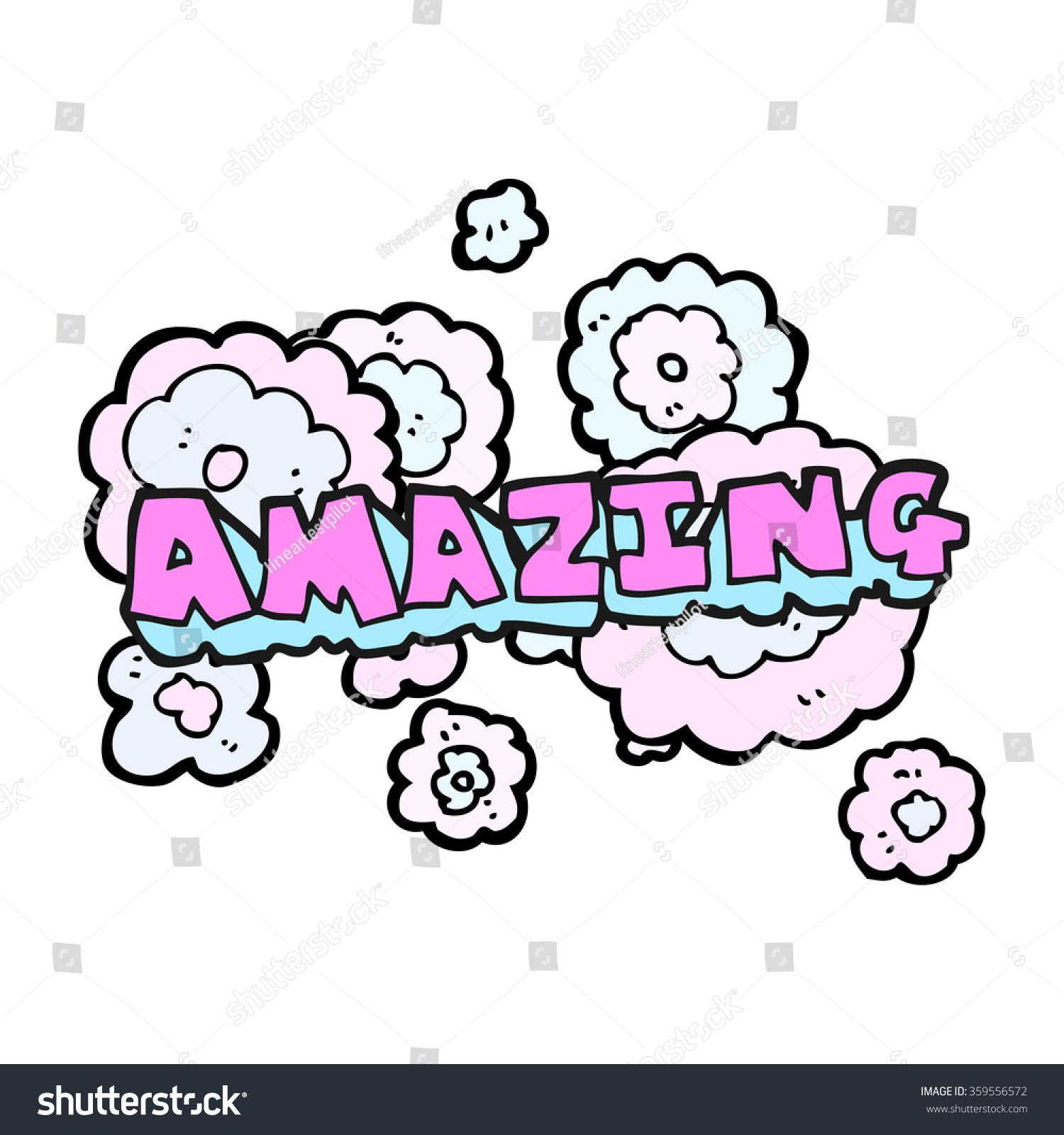 The Word Amazing: Freehand Drawn Cartoon Amazing Word Stock Vector