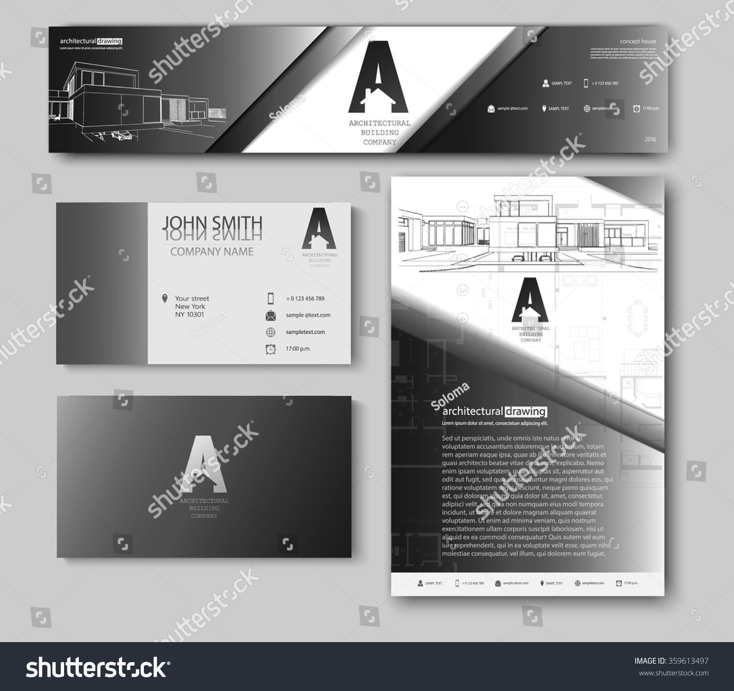 Business cards design blueprint sketch architectural vectores en business cards design with blueprint sketch for architectural company architectural background for architectural project malvernweather Choice Image