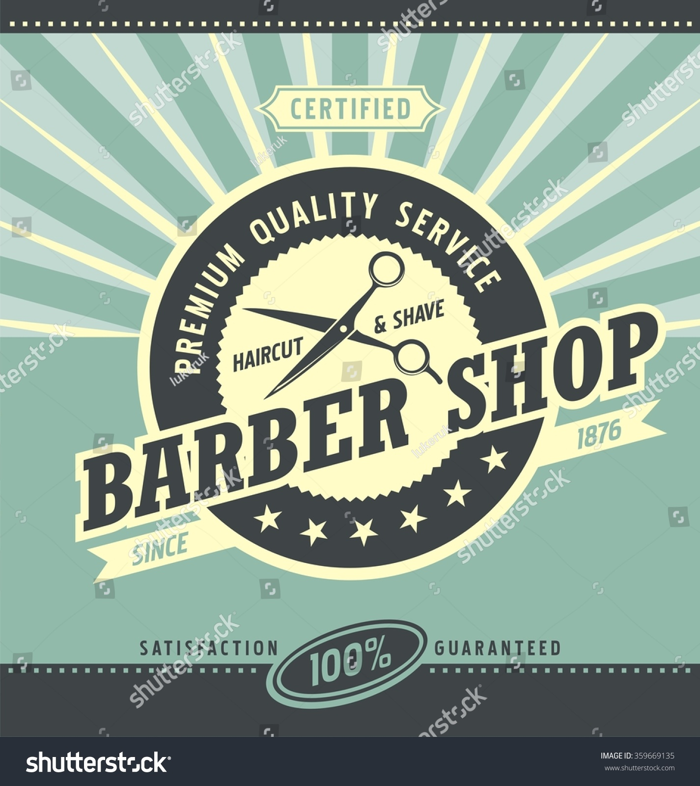 70s poster design template - Barber Shop Retro Poster Design Template Haircut And Shaving Promotional Banner Graphic Hair Styles