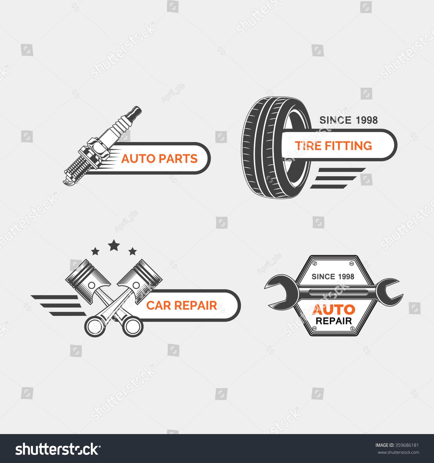 Replacement Auto Parts : Set car service auto repair stock vector