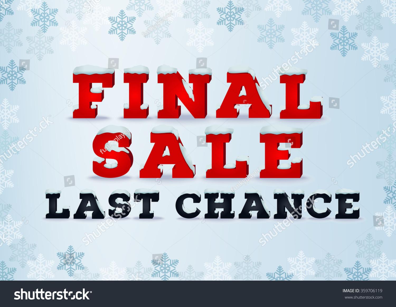 Final sale last chance inscription design template in 3d for Last design outlet