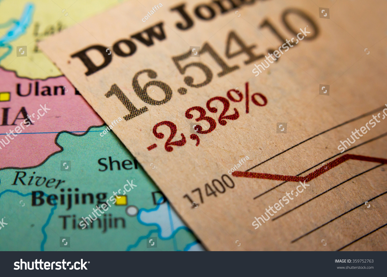 Stock market graph on top map stock photo 359752763 shutterstock stock market graph on top of a map of china red downtrend indicates the stock buycottarizona