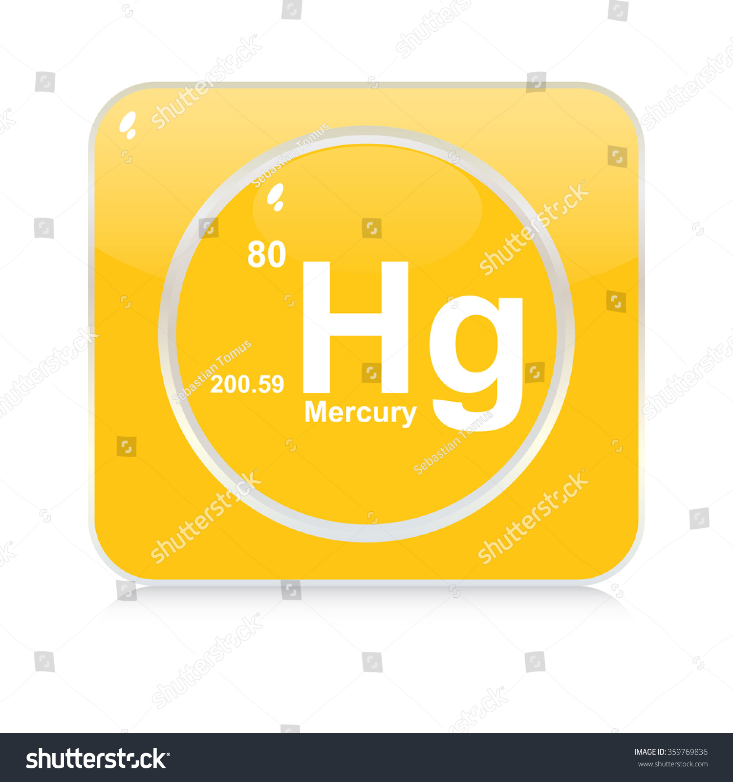 Mercury chemical element button stock vector 359769836 shutterstock mercury chemical element button buycottarizona Gallery