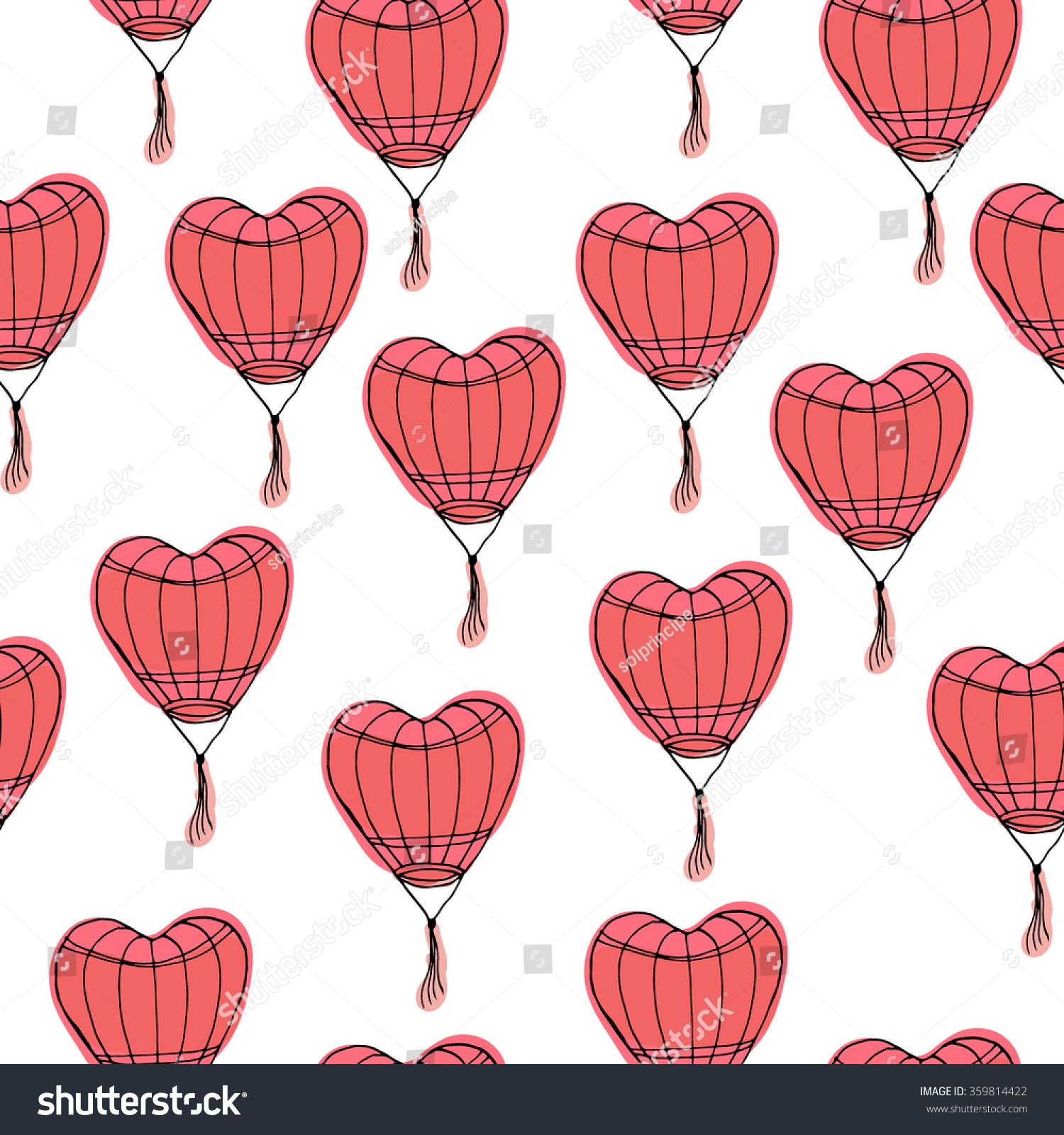 Seamless pattern hand drawn chinese paper stock vector 359814422 seamless pattern with hand drawn chinese paper sky lantern traditional lamp for chinese new year buycottarizona Images