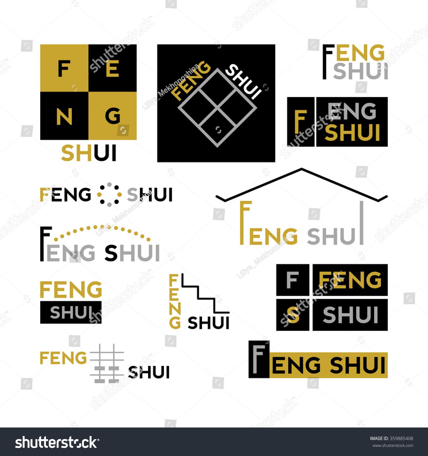 Photo Salon Feng Shui feng shui collection abstract logos set stock image