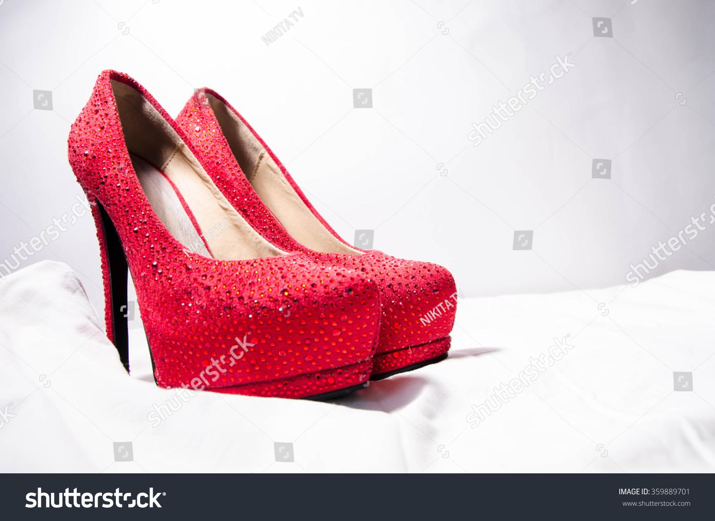 cf96ac85887 High Heels Inner Platform Sole Red Stock Photo (Edit Now) 359889701 ...