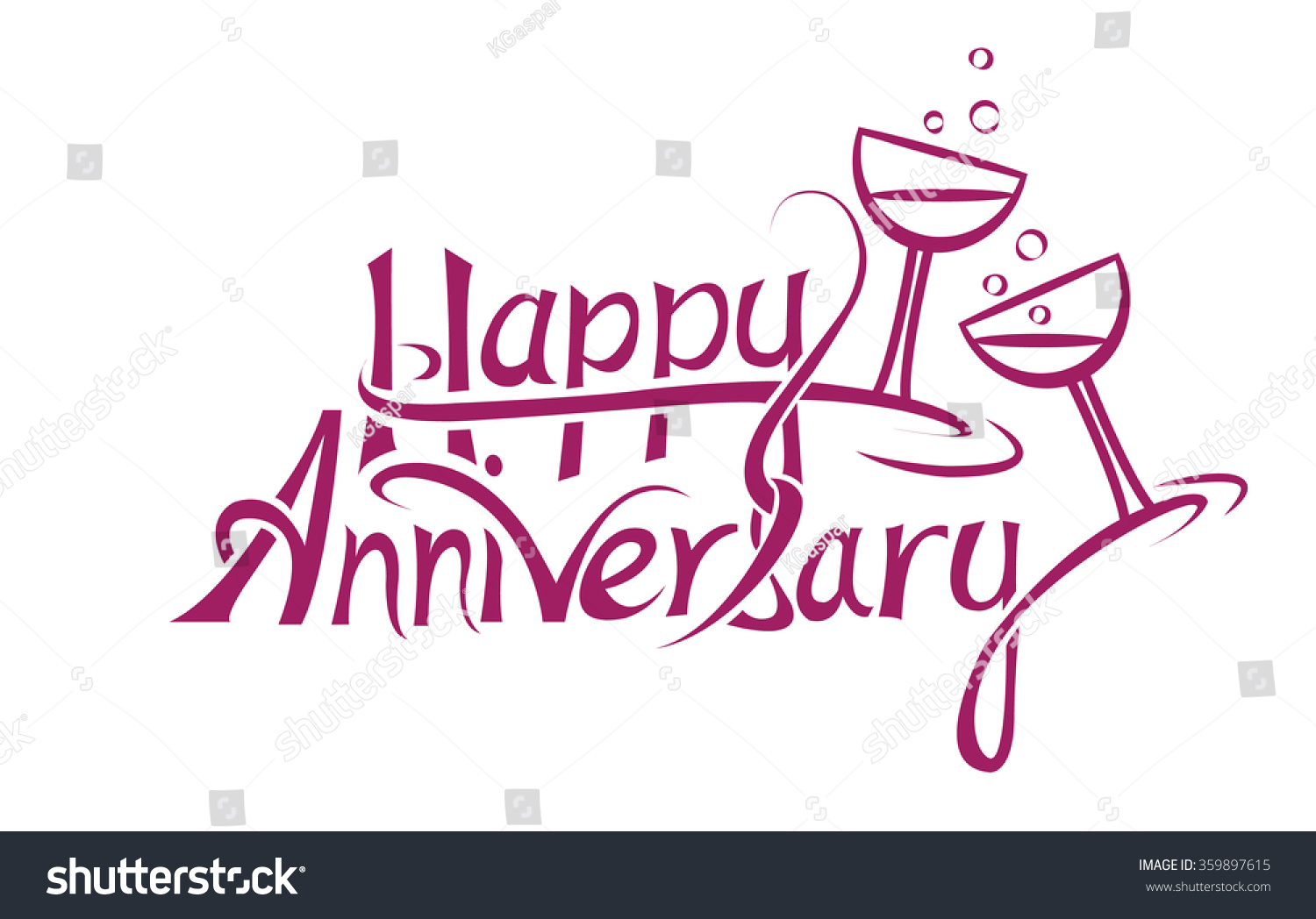 happy anniversary sign letter design stock vector 359897615 shutterstock. Black Bedroom Furniture Sets. Home Design Ideas