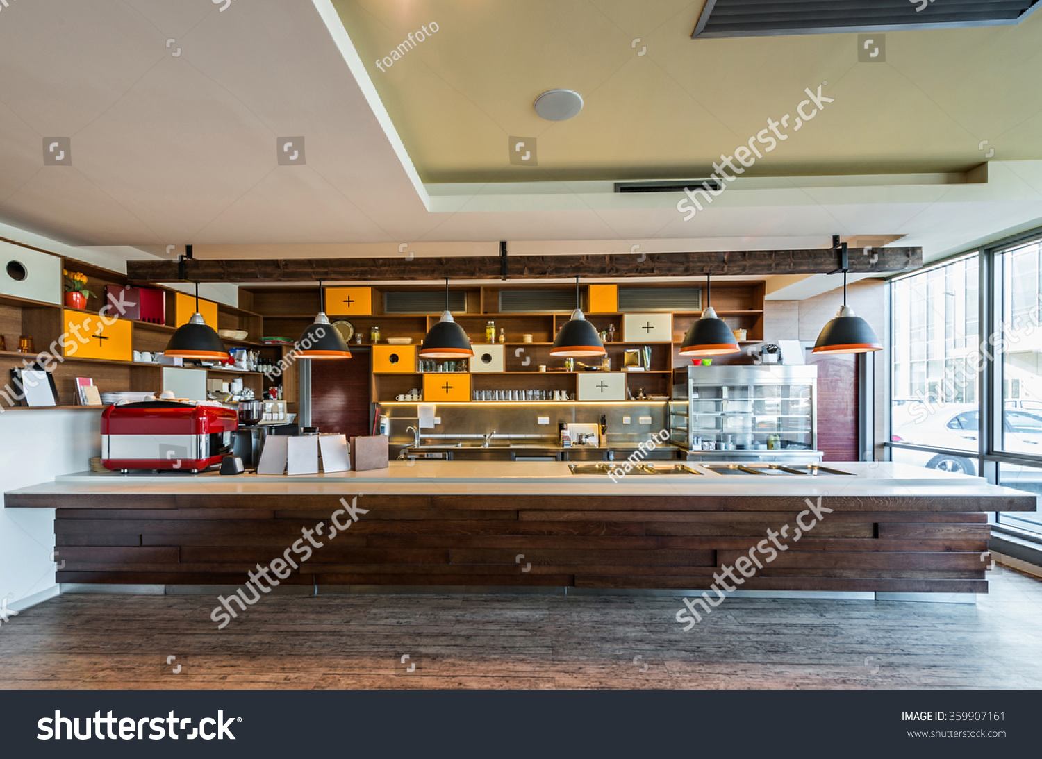 Lunch Counter Modern Restaurant Stock Photo 359907161