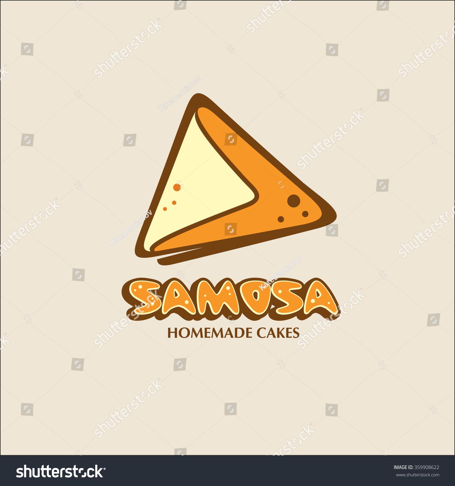 Samosa Home Bakery Vector Logo Stock Vector Royalty Free 359908622