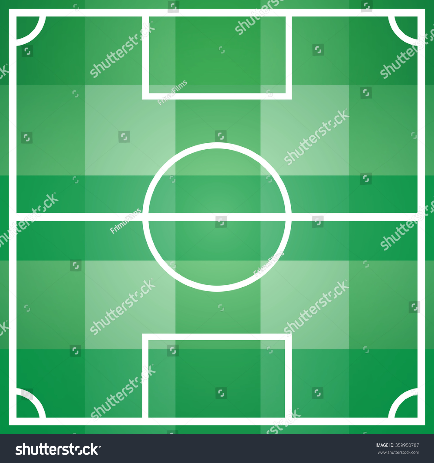 soccer football game field template all stock illustration 359950787