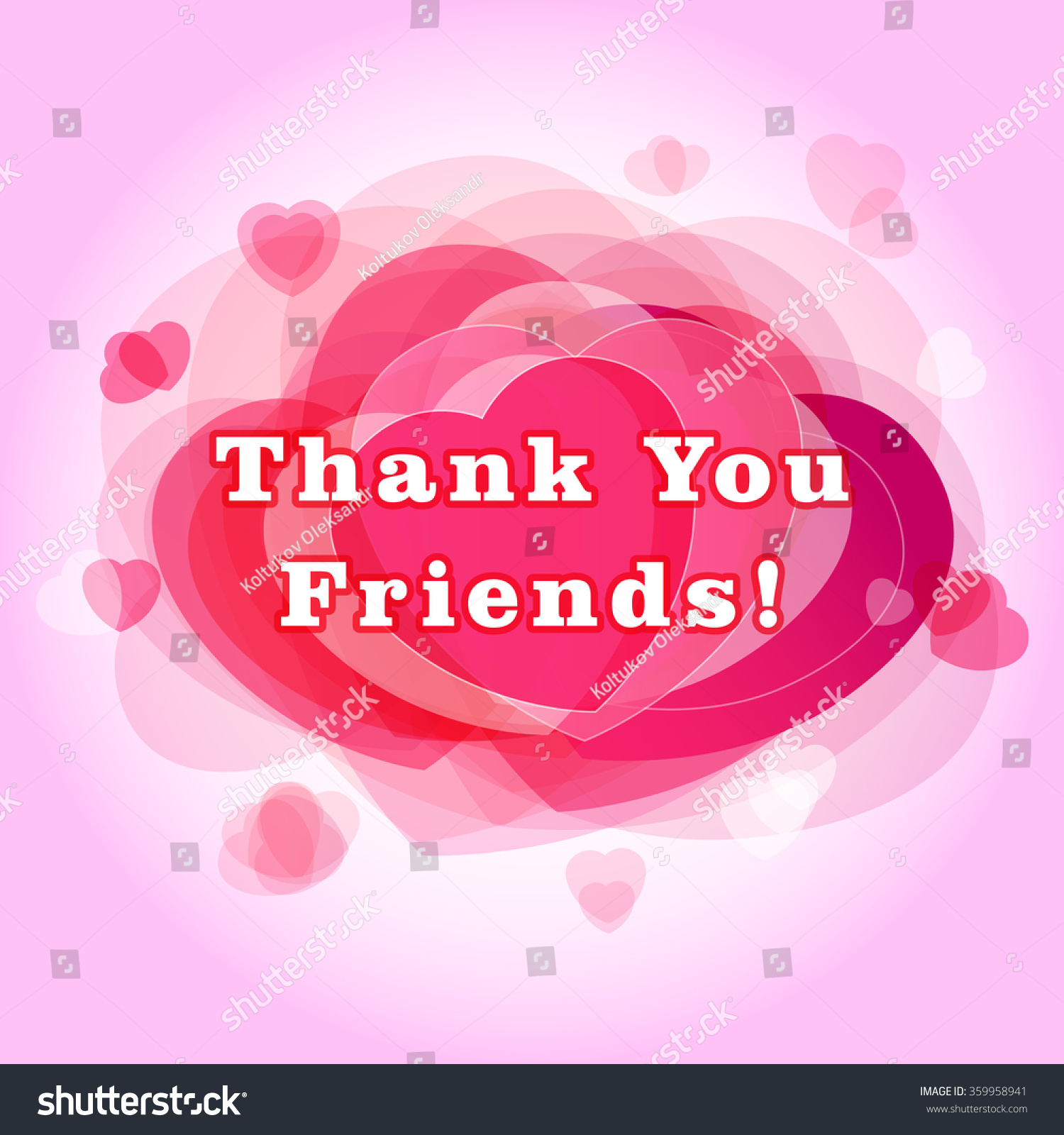 Thank You Followers Card Gratitude Picture Stock Vector 359958941