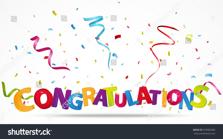congratulations confetti のベクター画像素材 ロイヤリティフリー