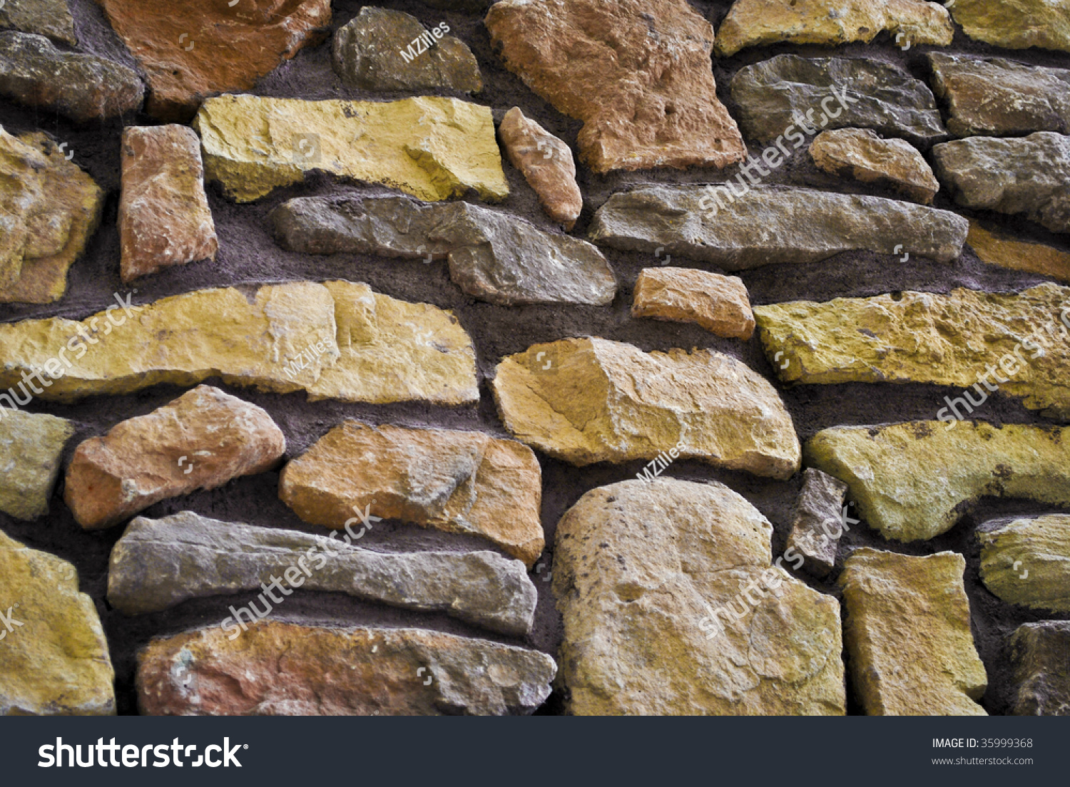 Closeup Of An Interior Rock Wall. Preview. Save To A Lightbox