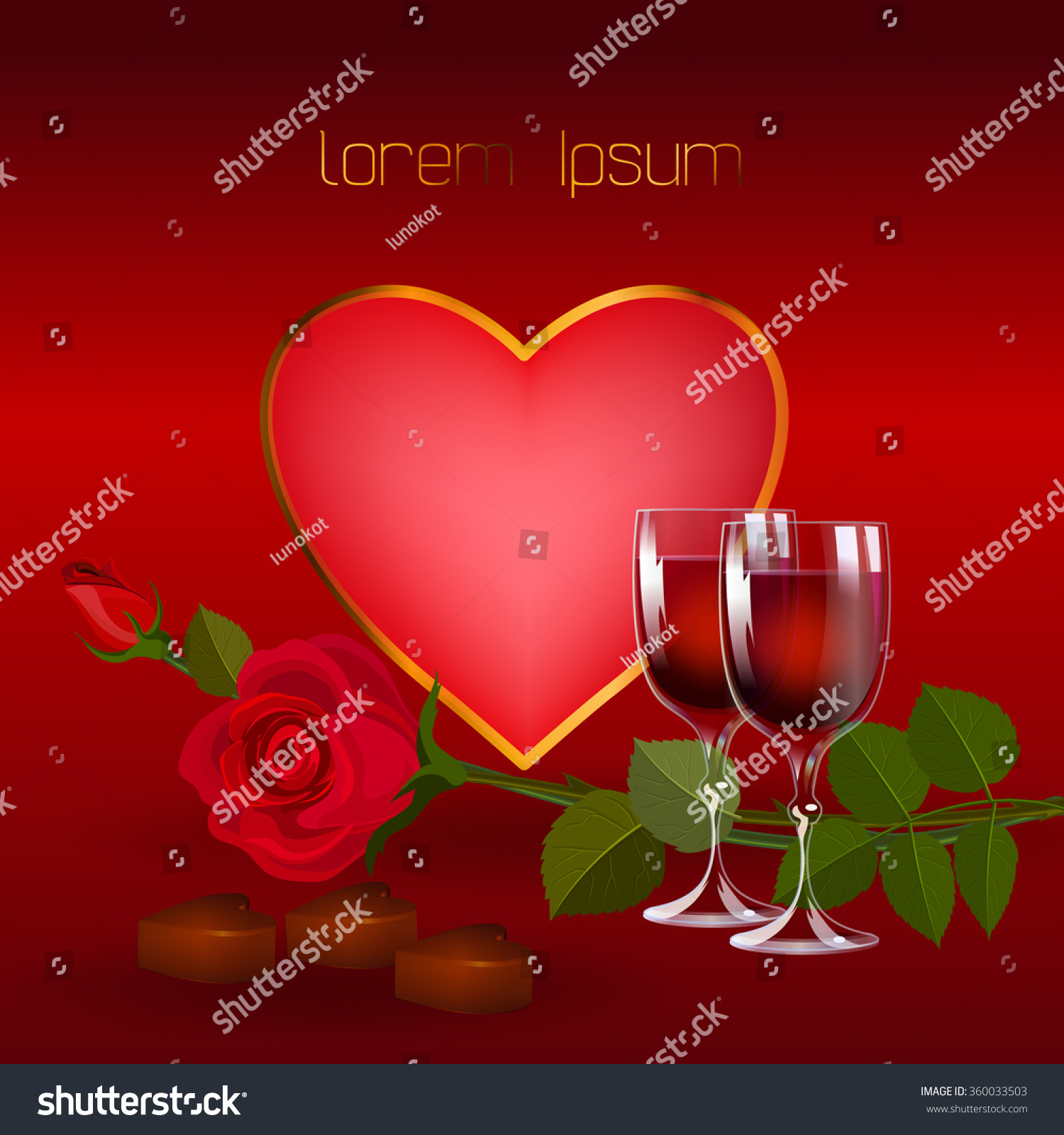 Valentines Day Background Heart Shaped Frame Stock Vector Royalty
