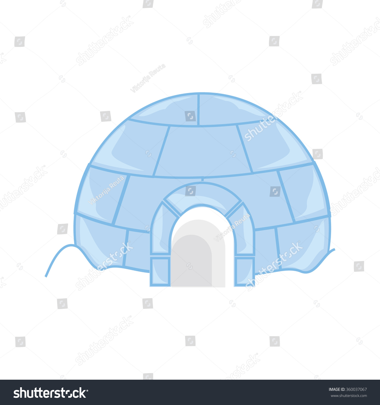 Raster illustration snow ice house igloo stock illustration raster illustration snow or ice house igloo house made from ice blocks pooptronica