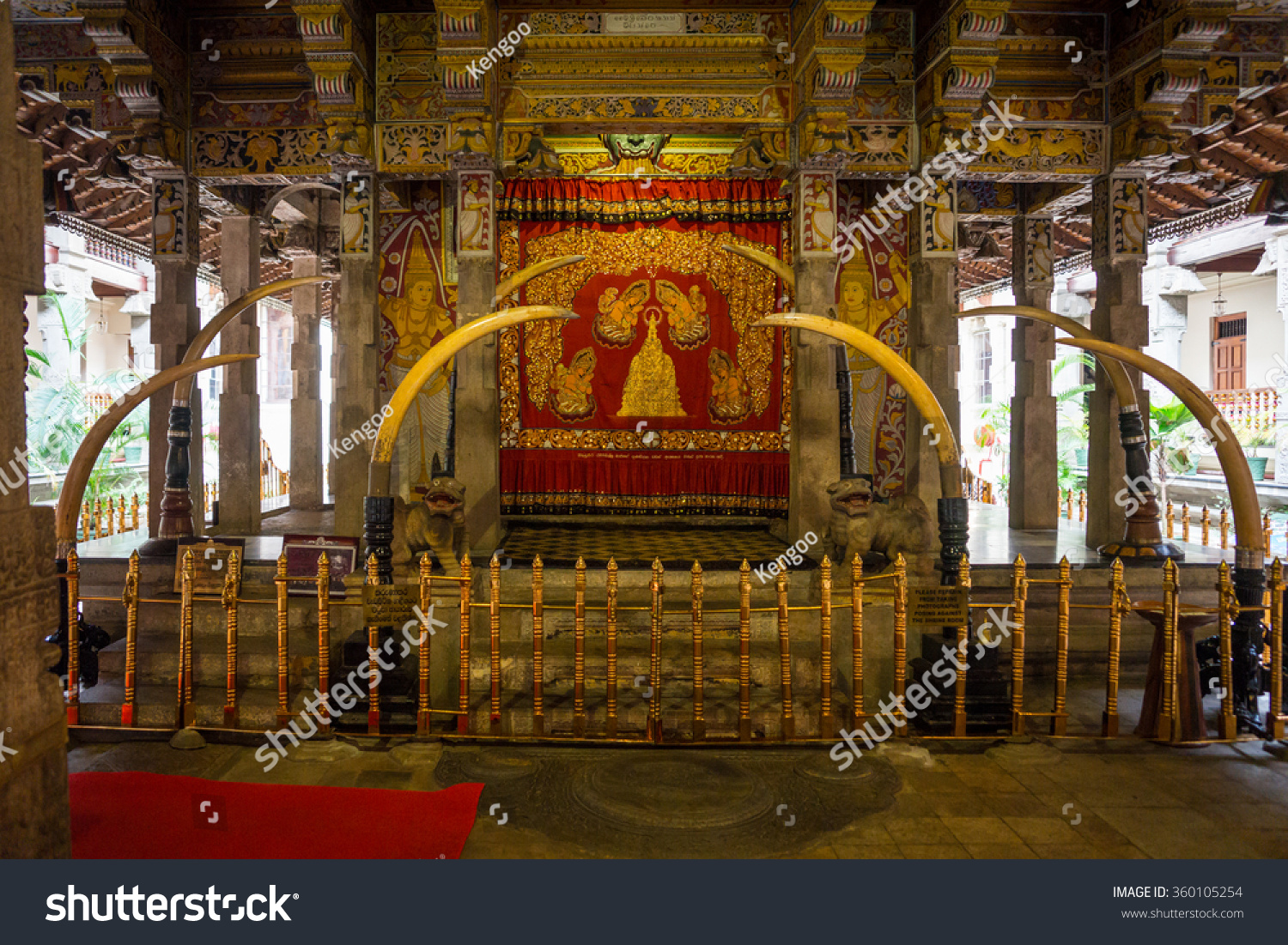 Sri Lanka Kandy August 16 2015 The Tooth of Buddah Temple The Temple of the Tooth Relic Territory Of The Temple The inside view