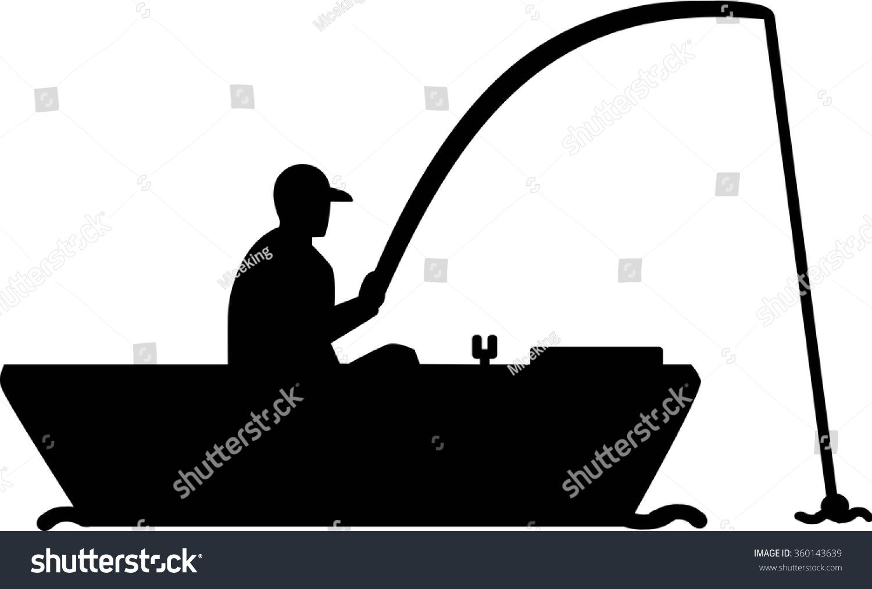 Sport fishing boat silhouette