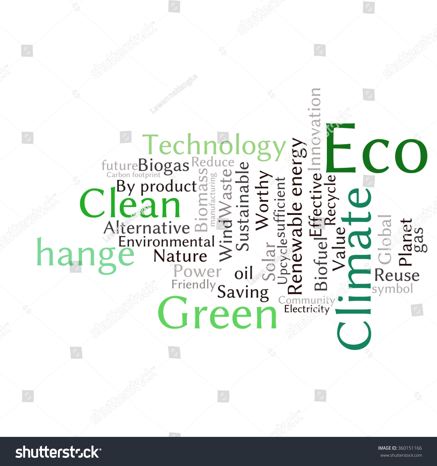 Ecology Earth Concept Word Collage. Environmental Poster Design ...