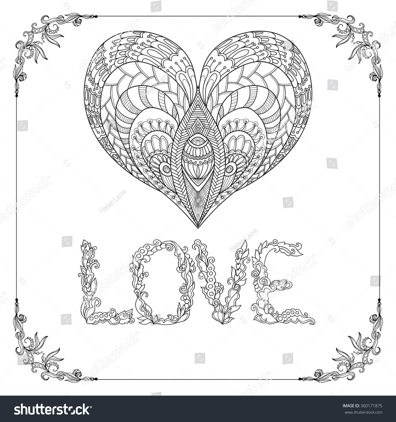 older valentines day coloring pages - photo#18