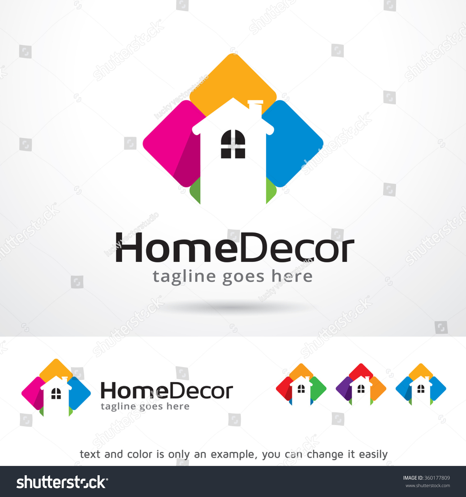 Home Decor Logo Template Design Vector Stock Vector