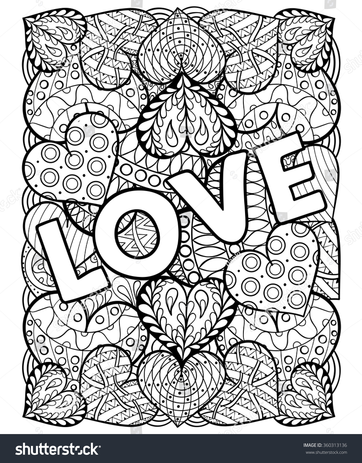 Hand Drawn St Valentines Day Artistically Stock Vector