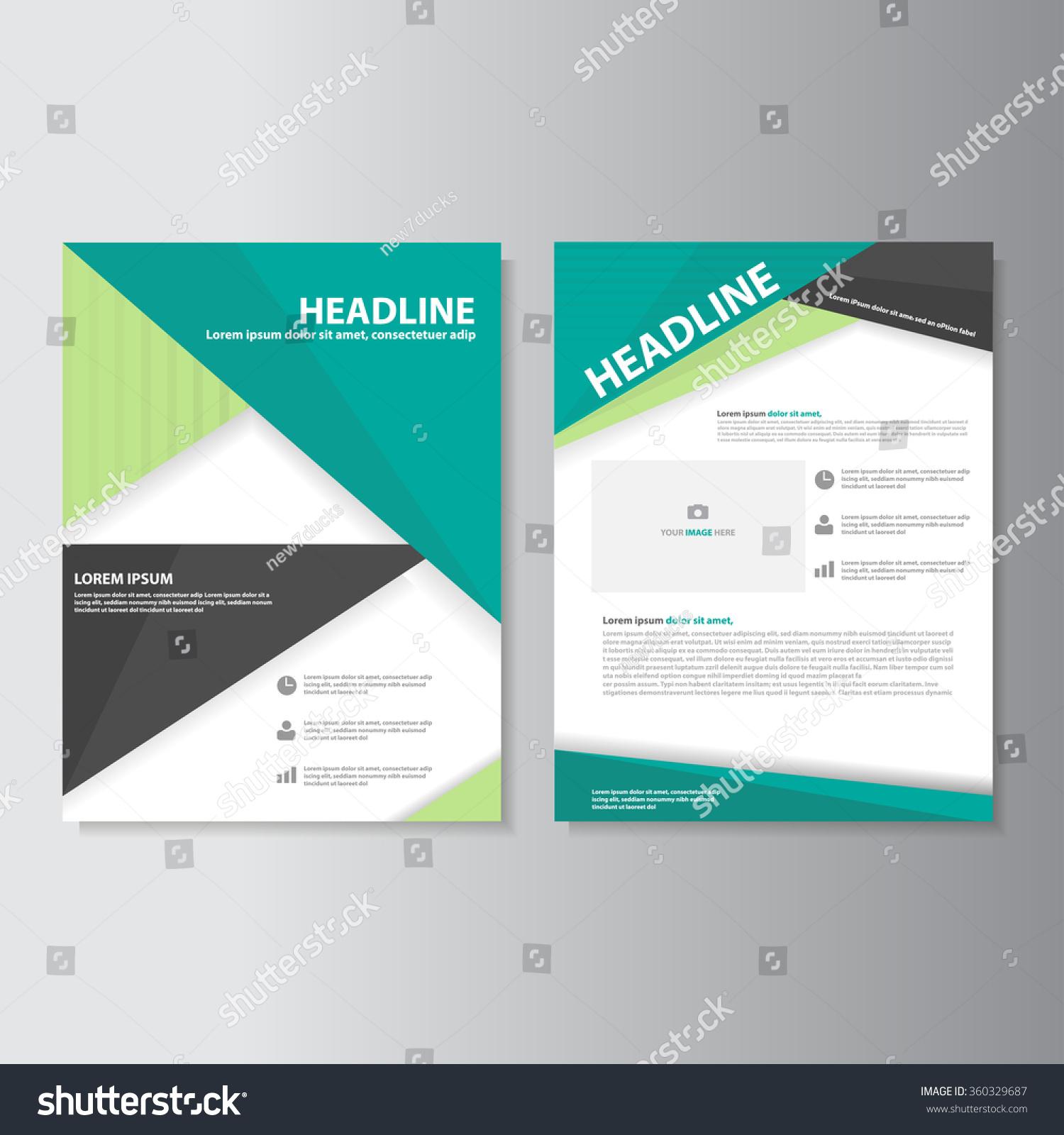 blue brochure a4 flyer leaflet template set for marketing and blue brochure a4 flyer leaflet template set for marketing and advertising