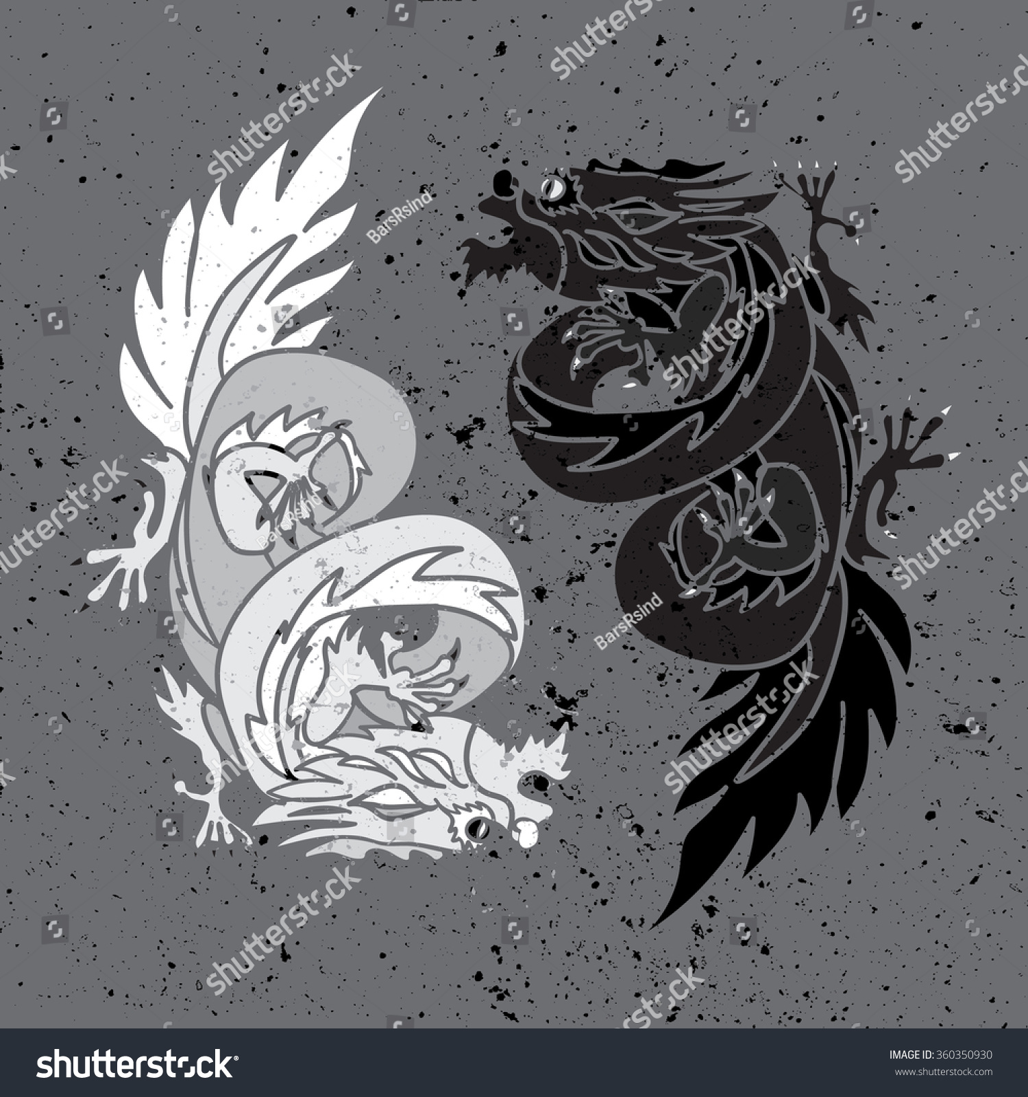 Taoism Symbols Dragon: Isolated Chinese Dragon Oriental Feng Shui Stock Vector