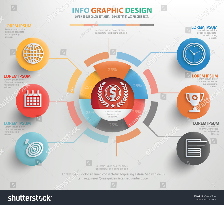 Calendar Concepts Graphic Design : Business concept info graphic designclean vector stock