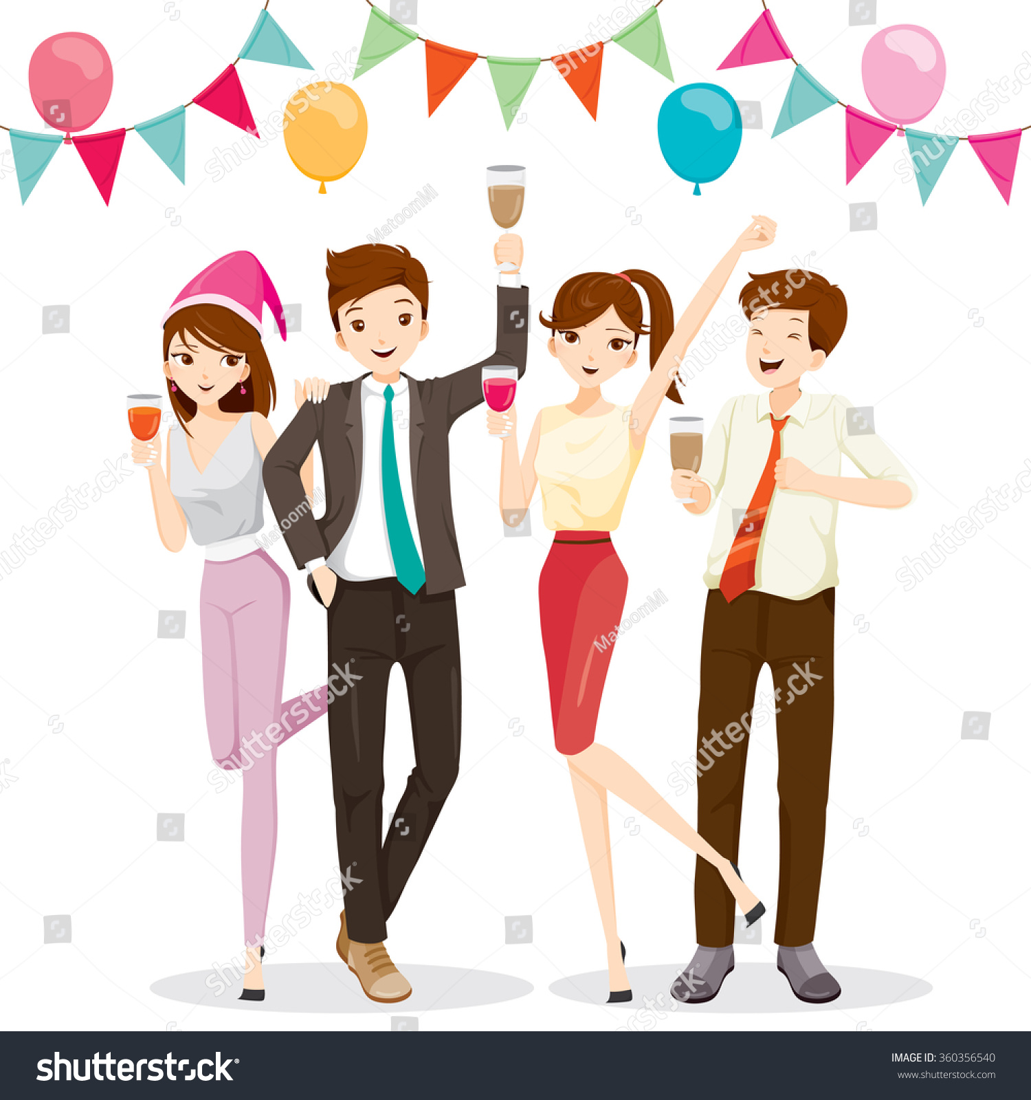 man w fun party drink corporate stock vector  man and w fun in party drink corporate banquet feast company