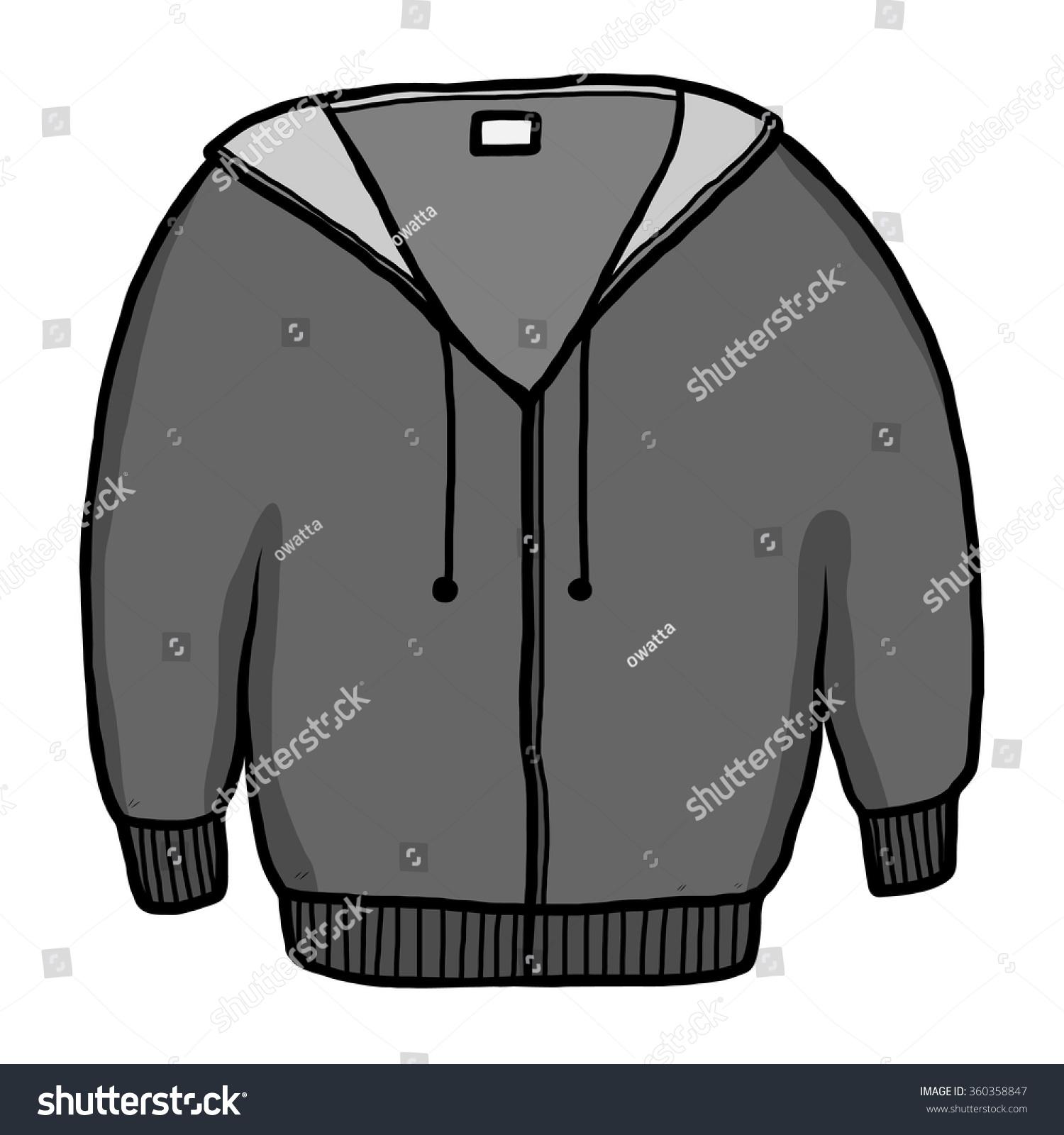 Jacket Sweater Cartoon Vector Illustration Grayscale Stock ...