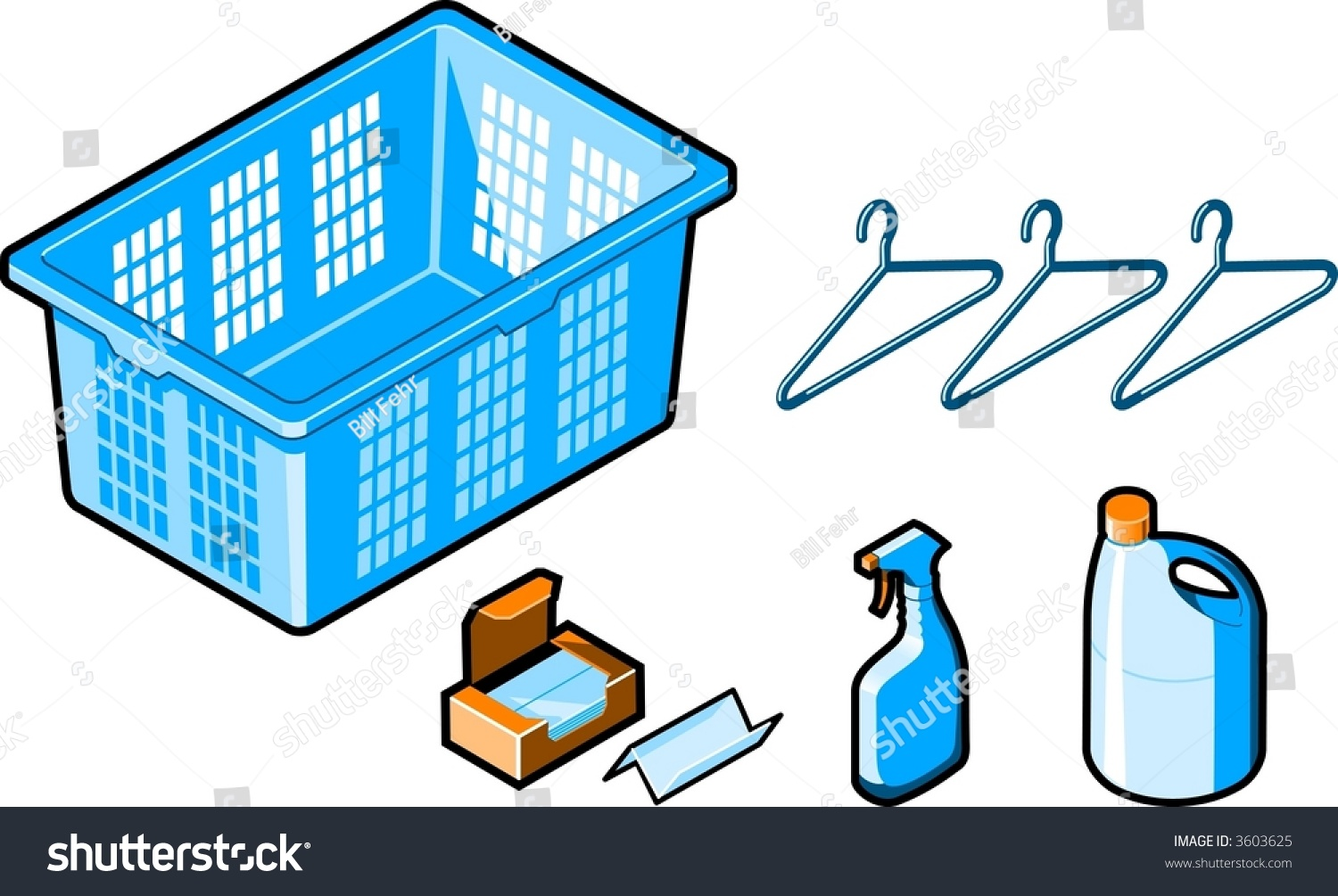 Laundry Room Items Laundry Room Items Stock Vector 3603625  Shutterstock
