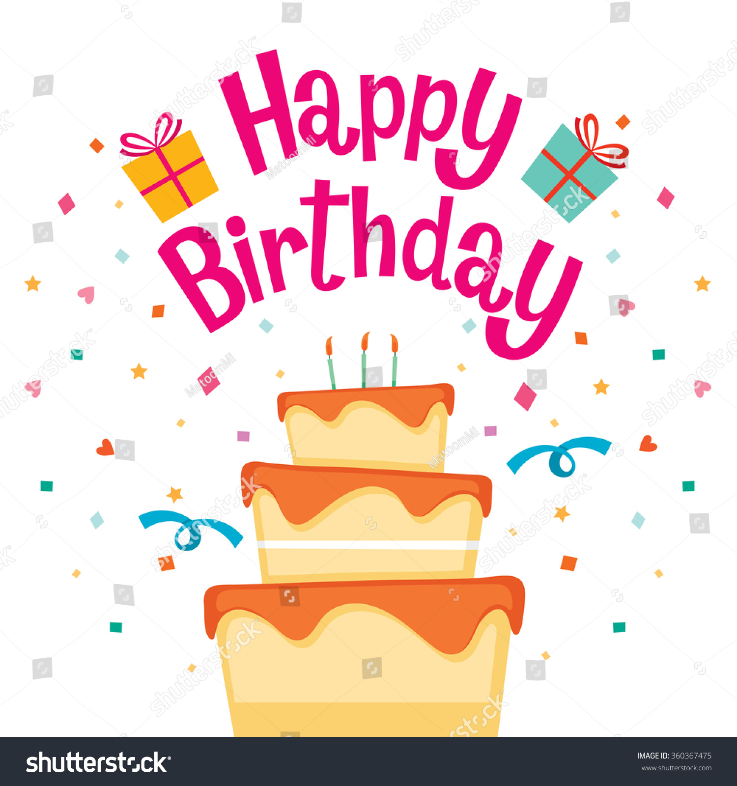 happy birthday letter cake happy birthday letter banquet stock vector 22083