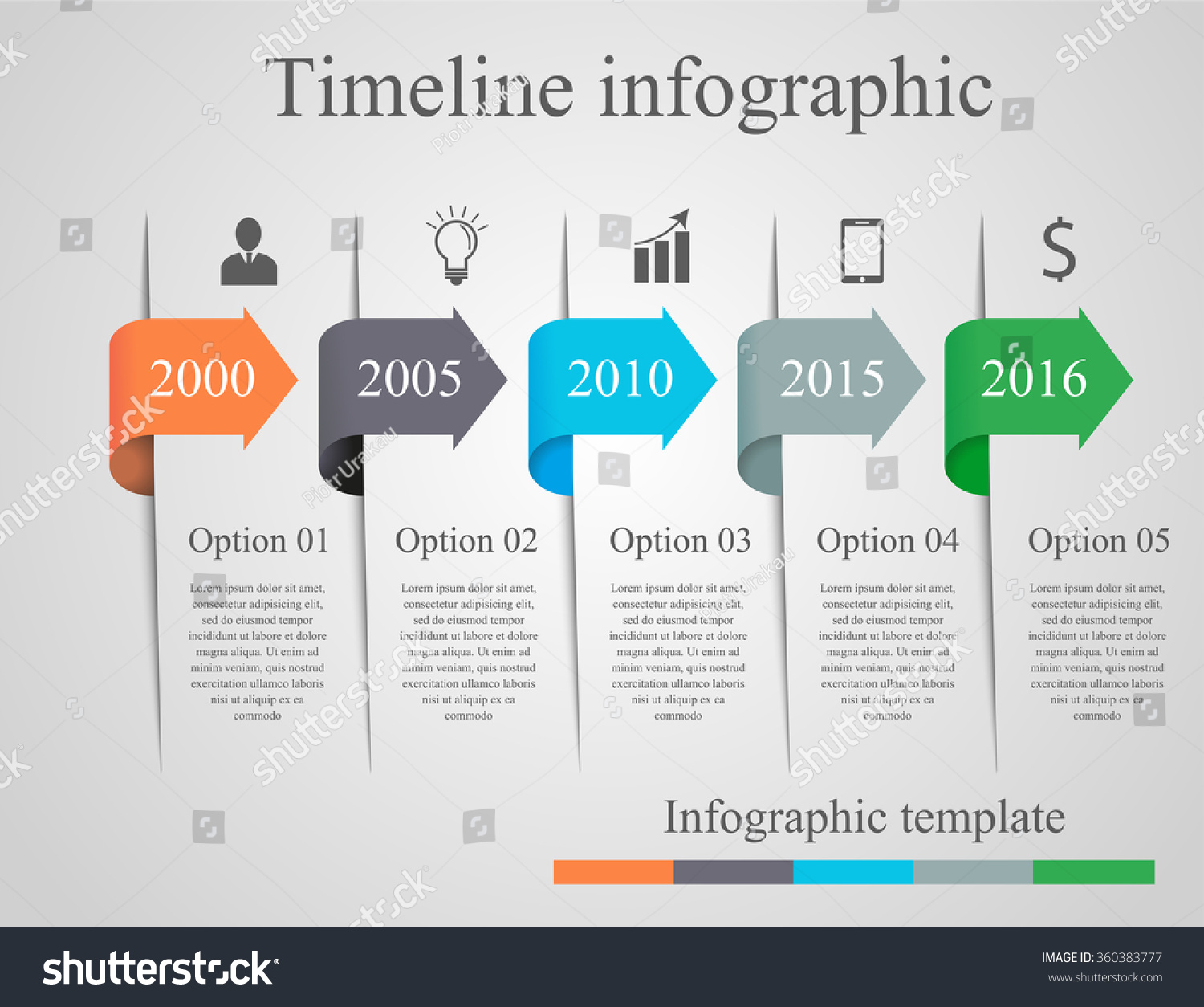 Infographics Arrow Timeline Template Can Be Stock Vector ...