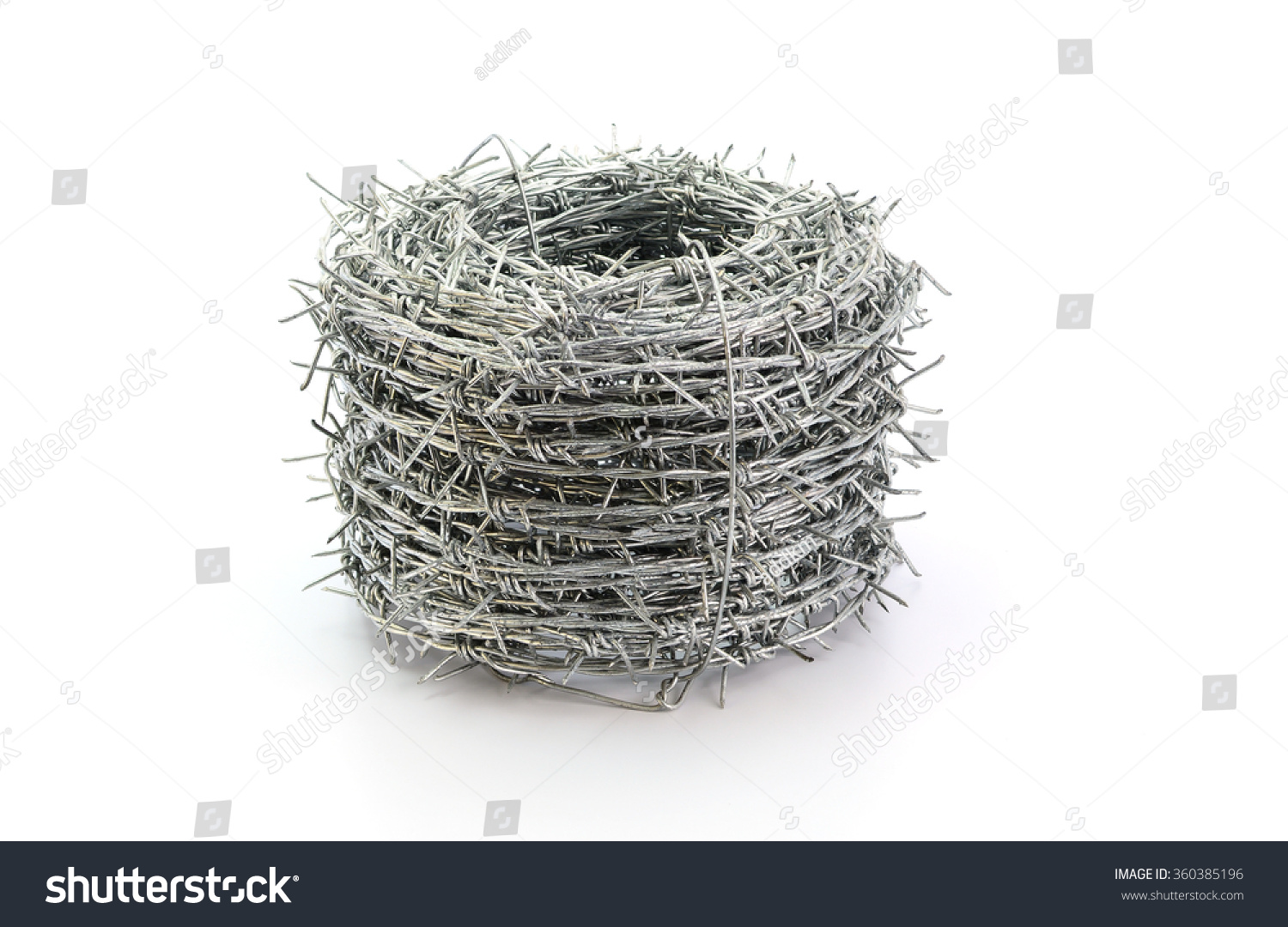 Barbed Wire Roll Isolated On White Stock Photo (Download Now ...